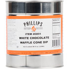 White Chocolate Waffle Cone Dip - #10 Can