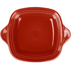 Homer Laughlin 1456326 Fiesta Scarlet 10 3/4 inch Square Tray with Handles - 4/Case