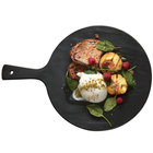 American Metalcraft FSR11 12 inch Round Faux Slate Melamine Serving Peel with Handle