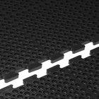 Cactus Mat 4420-CC VIP Duralok 3' x 5' Black Center Interlocking Anti-Fatigue Anti-Slip Floor Mat - 3/4