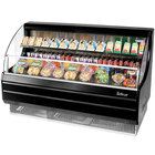 Turbo Air TOM-60LB Black 63 inch Low Profile Horizontal Air Curtain Display Case - 14.7 Cu. Ft.