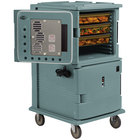 Cambro UPCHT16002401 Slate Blue Ultra Camcart Two Compartment Heated Holding Pan Carrier with Casters, Top Compartment Heated - 220V (International Use Only)