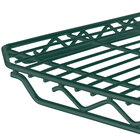 Metro 1848Q-DHG qwikSLOT Hunter Green Wire Shelf - 18 inch x 48 inch
