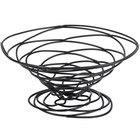 American Metalcraft BNB9 Round Black Birdnest Basket - 9 inch x 4 inch