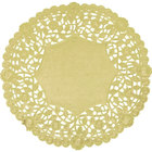 8 inch Gold Foil Lace Doily - 500/Case