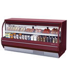 Turbo Air TCDD-96-4-L Red 96 inch Curved Glass Refrigerated Deli Case - 19.2 Cu. Ft.