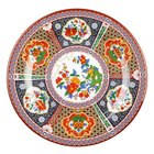 Peacock 15 1/2 inch Round Melamine Plate - 12/Pack