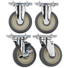 Cambro UPCS400CK Rigid and Swivel Stem Casters - 4 / Set