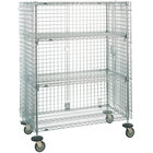 Metro SEC33ECQ QwikSLOT Mobile Standard Duty Wire Security Cabinet 41 inch x 22 inch x 68 inch
