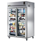 True STG2RPT-2G-2G Specification Series Two Section Pass-Through Refrigerator with Glass Front and Rear Doors
