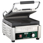 Waring WPG150B 9 3/4 inch x 9 1 /4 inch Panini Perfetto Grooved Top & Bottom Panini Sandwich Grill 208V