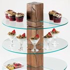 Cal Mil 831-RD Round Glass Stand Shelf for 79152 – 19 3/4 inch x 10 inch x 1/4 inch