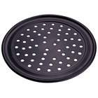American Metalcraft HCTP7P 7 inch Perforated Hard Coat Anodized Aluminum Wide Rim Pizza Pan