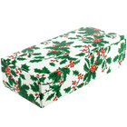4 1/2 inch x 2 5/16 inch x 1 1/8 inch 1-Piece 1/4 lb. Holly Candy Box - 250/Case