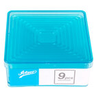 Ateco 5703 9-Piece Polycarbonate Fluted Square Cutter Set (August Thomsen)