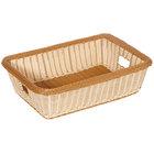 GET WB-1516-TT Designer Polyweave Plastic Rectangular Basket 22 inch x 15 1/2 inch x 6 inch - 6 / Pack