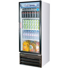 Turbo Air TGM-11RV White Single Glass Door Reach In Merchandising Refrigerator - 11 Cu. Ft.