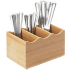 Cal-Mil 1244 Three Slot Bamboo Flatware Holder