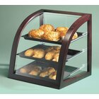 Cal Mil P255-52 Full Service Bakery Display Case Euro Style Curved Front with Wood Frame 17 inch x 17 inchx 18 inch