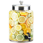 Cal-Mil 1748-2 2 Gallon Round Glass Beverage Dispenser with Stainless Steel Top