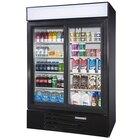 Beverage Air LV45-1-B-LED Black LumaVue 52 inch Refrigerated Glass Door Merchandiser with LED Lighting- 47 Cu. Ft.
