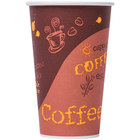 Choice 20 oz. Poly Paper Hot Cup with Coffee Design - 600/Case