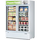 Turbo Air TGF-47SD White 51 inch Super Deluxe Two Door Merchandiser Freezer - 46.2 Cu. Ft.