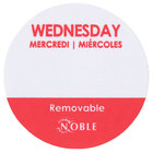Noble Products Wednesday 1 inch Removable Day of the Week Dot Label - 1000/Roll