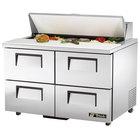 "True TSSU-48-12D-4 48"" Four Drawer Sandwich / Salad Prep Refrigerator"