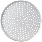 American Metalcraft PT4016 16 inch x 1 inch Perforated Tin-Plated Steel Straight Sided Pizza Pan