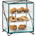 Cal-Mil 1501-13 Glacier Three Tier Acrylic Display Case with Wire Frame - 16 inch x 12 inch x 19 inch