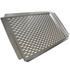 Crown Verity PGT-1117 22 inch x 13 inch Perforated Stainless Steel Vegetable / Fish Grilling Tray