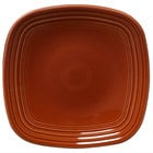 Homer Laughlin 920334 Fiesta Paprika 9 1/4 inch Square Luncheon Plate - 12 / Case