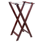 Tablecraft 21 Mahogany Tray Stand - 32 inch
