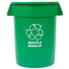 Carlisle 341032REC09 32 Gallon Green Recycling Container