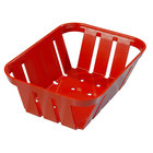 Carlisle 4403005 Stackable Red Munchie Basket 7 3/8 inch x 5 3/8 inch 24 / Case