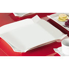 CAC TMS-6 Times Square 6 inch Bright White China Square Plate - 36/Case