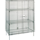 Metro SEC65S Stainless Steel Stationary Wire Security Cabinet 50 1/2 inch x 33 1/2 inch x 66 13/16 inch