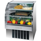 Beverage Air CDR3/1-S-20 Curved Glass Refrigerated Bakery Display Case 37 inch - 13.4 Cu. Ft.