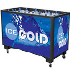 Black Extra Large Ice Saver 065 Mobile 140 qt. Frost Box with Casters