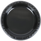 Genpak BLK07 Silhouette 7 inch Black Heavy Weight Plastic Plate - 100/Pack