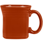 Homer Laughlin 923334 Fiesta Paprika 13 oz. Square Mug - 12 / Case