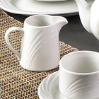 CAC GAD-PC Garden State 6 oz. Bone White Porcelain Creamer - 48/Case