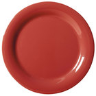 GET NP-6-CR Cranberry Diamond Harvest 6 1/2 inch Rolled Edge Plate - 48/Case