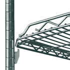 Metro HDM1436Q-DSG qwikSLOT Drop Mat Smoked Glass Wire Shelf - 14 inch x 36 inch