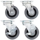 Swivel Plate Casters for US Range and Garland S and H Series Ranges - 4 / Set