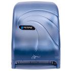 San Jamar T1490TBL Smart System Oceans Hands Free Roll Towel Dispenser - Arctic Blue