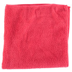 Unger ME40R SmartColor MicroWipe 16 inch x 16 inch Red UltraLite Microfiber Cleaning Cloth - 10/Pack