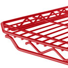 Metro 2136Q-DF qwikSLOT Flame Red Wire Shelf - 21 inch x 36 inch