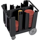 Cambro ADCS110 Black S Series Adjustable Dish Caddy with Vinyl Cover - 6 Column
